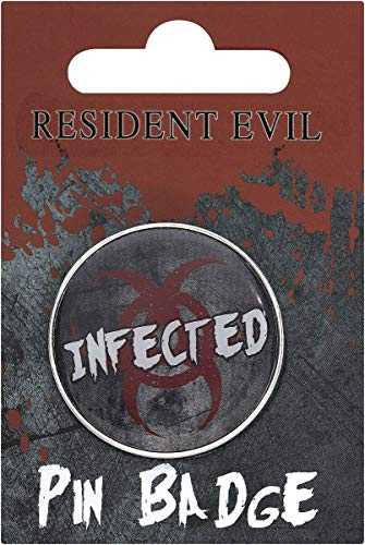 Resident Evil Infected Unisex Pin Mehrfarbig Metall Fan-Merch, Film, Gaming, Horror, TV-Serien