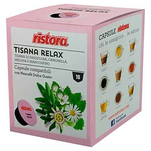 40 Capsule compatibili Nescafè Dolce Gusto Ristora Tisana Relax in foglie