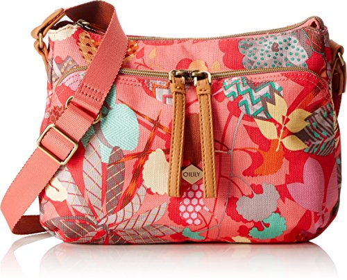 Oilily Damen S Shoulder Bag Umhängetasche, Pink Flamingo, 9x19x26 cm