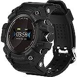 TCHENG Smart Watch Multifuncional Multifuncional Aire Impermeable Reloj Deportivo con Monitor de Ritmo cardíaco Sueño de Sueño Podómetro para Android iOS (Color : Black)