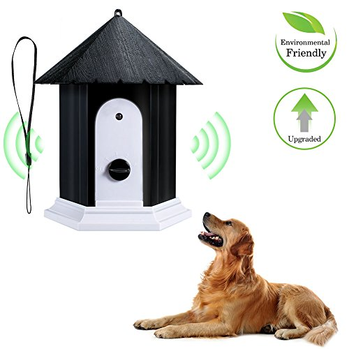 MAyouth Ultraschall Außen Dog Bark-Controller Pet Anti Barking Stop-Bark Birdhouse-Form wasserdichte Hund Ausbildung Repeller Control Tool Geräte