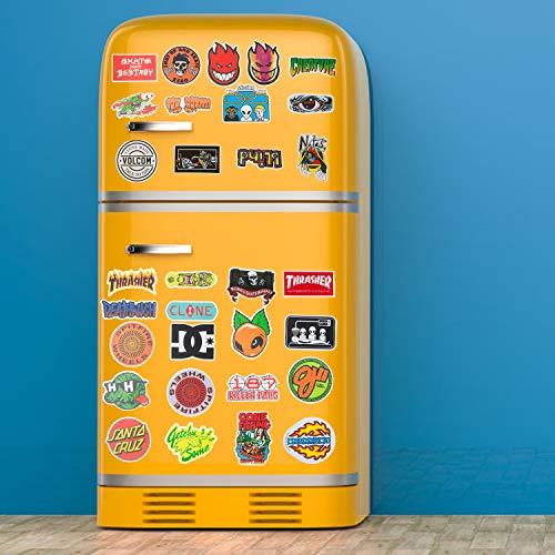 Coole Marken-Aufkleber, 100 Stück, modische Skateboard-Aufkleber, Computer-Aufkleber, wasserdichte Vinyl-Aufkleber, Laptop-Aufkleber, Gepäck, Auto, Fahrrad, Wasserflaschen-Aufkleber für Jugendliche