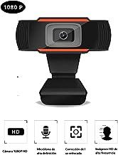Louis Cámara Web HD 1080P con micrófono y cámara Web para computadora Gran Angular de 110 Grados, cámara Web USB para PC para grabación de videoconferencia, Aprendizaje de Video en línea