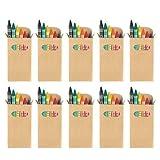 Ebuygb Lot de 10 boites de crayons de cirepour coloriage Pour fêtes d'enfants, sacs surprise, cadeau de mariage