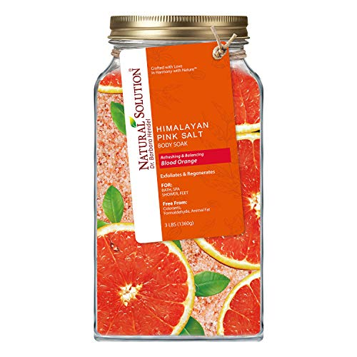 Natural Solution Pink Salt Body Soak with Blood Orange,Organic Joint & Muscle Relief Soak - 3 lbs