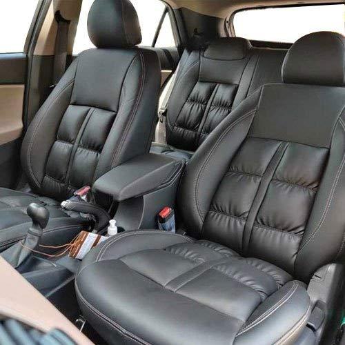 AUTOFIT Silky napa Puffy Pu Leather Car Seat Cover (Black, Maruti BALENO)