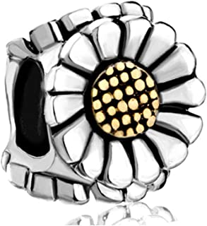 Sunflower Floral Charms Bead for Bracelets