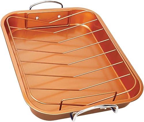 wholesale Copper H-02725-WV Turkey Roaster Pan, 2021 Size, discount One Color outlet online sale