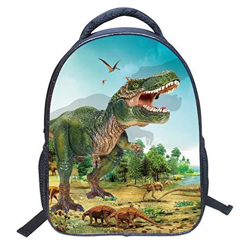 Runuo Rugzak voor kleuterschool, 3D dierprint dinosaurus, kleuterschool, kleuterschool, schooltassen, kinderen, rugzakken, wandelen, dagrugzakken