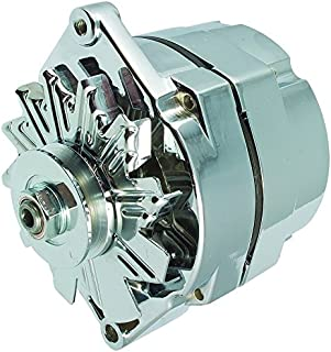 New High Output 100 AMP Alternator Chrome 1 Wire, Self Exciting, GM Chevy 10 SI 10SI DELCO BBC SBC 1965-1986 1100125