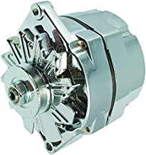 New High Output 100 AMP Alternator Chrome 1 or 3 Wire, Self Exciting, GM Chevy 10 SI 10SI DELCO BBC SBC 1965-1986 1100125