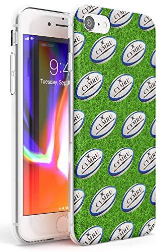 Motivo Rugby Ball Slim Cover per iPhone 6 TPU Protettivo Phone Leggero con Sport Modelli WRU Cymru 6 Nazioni