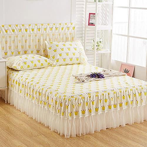 Liyingying Falda de Encaje Falda de Dibujos Animados, Familia y la Novia, la Mejor Ropa de Cama para Decorar el Dormitorio-5_150cmx200cm