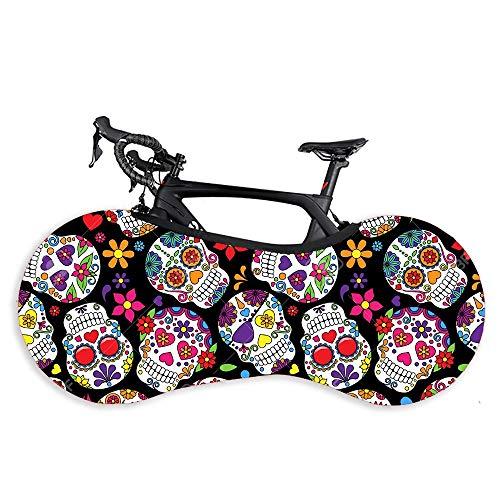 Z.L.F.J.P Accesorios para Bicicletas Bicicleta Cubierta de Polvo Cubierta de la Serie Pintada de Alta Resistencia elástica Tela Bicicleta de Carretera Cubierta de Accesorios de la Bici