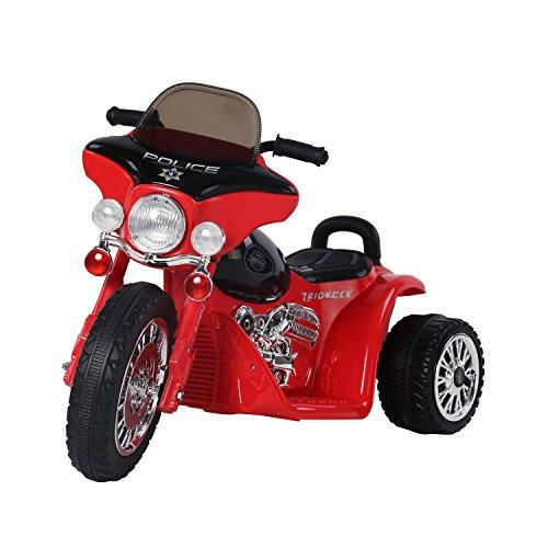 homcom Triciclo Moto Elettrica per Bambini 80 × 43 × 54.5cm Rosso