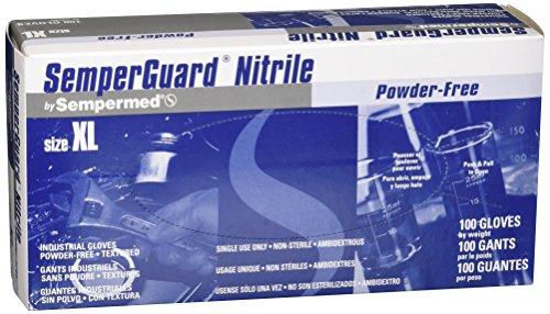 Sempermed 4-Mil Blue Nitrile Gloves-Extra Large-Box/100, X-Large