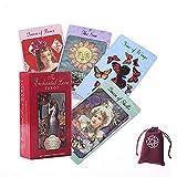 Los encantados Tarjetas de Amor de Amor con Bolsa de Terciopelo,The Enchanted Love Tarot Oracle Cards