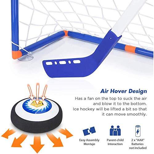 Schwebefußball Kinderspielzeug - LED E-Hockey LED-Federung Hockey Air Soccer Set, Indoor Outdoor Sportballspiel, Bestes Geschenk für Jungen Mädchen
