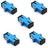 SC Fiber Coupler SC Connector,TEZONG SC Fiber Optic Connector Adapter SC to SC Female Sing...