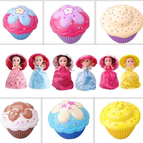 CaCaCook 1 Stück Cupcake Überraschung Puppe, Mini Cupcake Prinzessin Puppe, Spielhaus Spielzeug, Magische Geschenk Spielzeug, Haus Dekoration Duftenden Mädchen Lustiges Spiel Geschenk für Babys