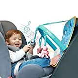 Baby Infant Car Seat Toy, Sensory Toys for Toddler, Improve Your Baby Hands-on Ability and Keep Busy, Toy with Plush Music Box&Three Jingling Cute Cartoons Dolls Suitable for Babies 0-6-12 Months