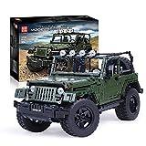LYCH Tecnología todoterreno, tecnología Mould King Jeep Wrangler 13124, tecnología Offroader 4x4, modelo SUV compatible con Lego Technic, 2096 piezas