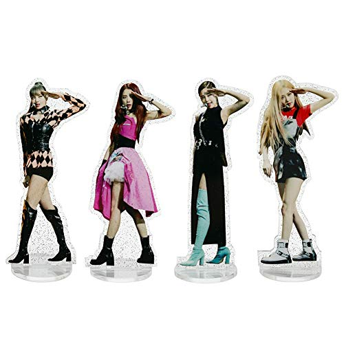 Apehuyuan Blackpink Acrylic Standing Figure Character Image Display Standing Figure with Holder Table Decor Best Gift for Fans( 4 Pack)