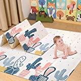 Arkmiido Baby Play Mat,Folding XPE Crawling Mat for Floor, Extra Thick 1cm,Water Proof and Soft for Toddler.(180cm200cm) (Blue)