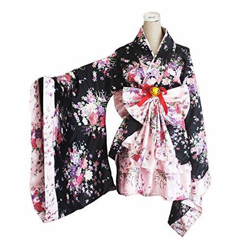 CoolChange Kimono Cosplay de Lolita con Falda con Volantes, Talla: L
