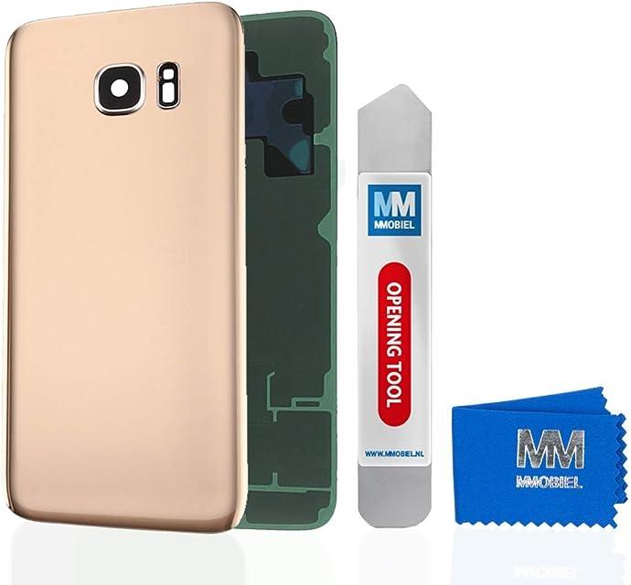 MMOBIEL Tapa Bateria/Carcasa Trasera con Lente de Cámara Compatible con Samsung Galaxy S7 G930 5.1 Pulg. (Oro)
