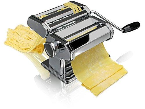 Bluespoon Nudelmaschine aus Edelstahl   Pastamaschine mit verstellbarer Knetwalze für 9 verschiedene Stärken   Pastamaker für max. Teigbreite von 150 mm   Pasta ganz einfach selber machen