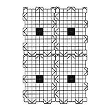 Attic Dek Flooring Storage System, Walking Deck Pallet Boards for Attic, Easy Installation Floor System for Garage, Roof and More, 4 Panels Included - Black