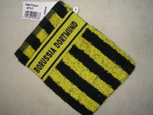 Borussia Dortmund BVB Waschhandschuh, schwarz-gelb 15/21 cm,Fussball-Fan-Artikel