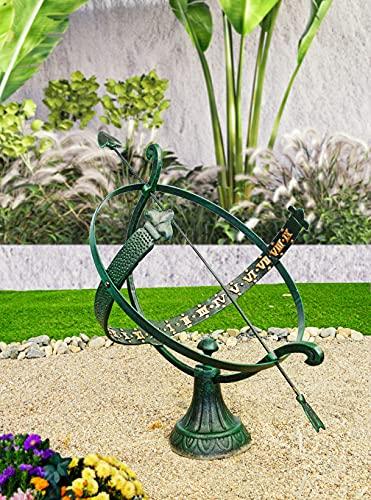 Schwartinsky Sonnenuhr Schwartinsky Patina-Farbe Schwartinsky Metall Schwartinsky für Außenbereich ☀, 22251, ca. 43 cm ø x 57 cm h