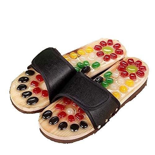 JJSFJH Zapatillas de Masaje Masaje de pies Acupresión Reflexología Zapatillas de pie Zapatillas de Masaje for Mujeres Hombres Acupoint Terapia magnética Masaje (Size : XXL)