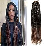 Box Braids Crochet Hair 6Packs Crochet Box Braids Pre-looped Synthetic Hair Crotchet Braids Hair 22...