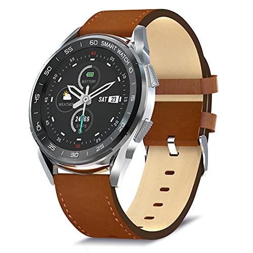 Bebinca Smartwatch für Männer Vollrundes Farbdisplay, Fitness-Tracker mit Herzfrequenz- und Blutdruckmessgerät, Nachrichtenbenachrichtigungen, extrem Langer Akku IOS/Android