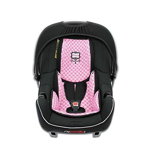 mycarsit asiento auto, grupo 0+ (0A 13kg), diseño de rosa, prin