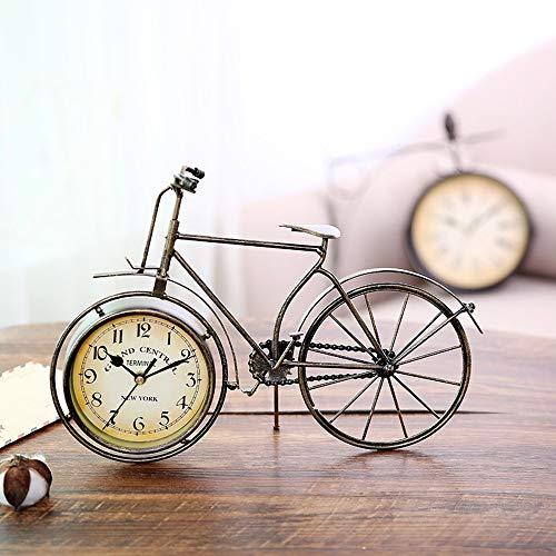 BDwantan Reloj de silla de bicicleta, diseño retro de hierro forjado, color marrón, 36 x 4 x 26 cm