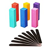 14Pcs Nail Files and Buffers Set Professional, Rough Emery Boards for Nails 100/180 Grit, Nail Buffer Block Kit for Natural Nails Last Long, Nail filer Buffing for Home Salon Use