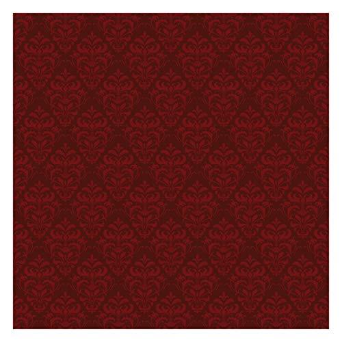 Tapete selbstklebend - Roter Französischer Barock Fototapete Quadrat 240x240 cm