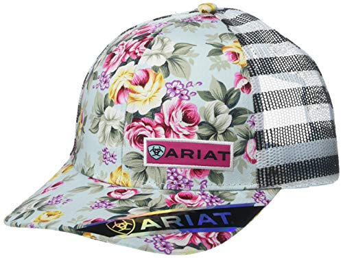 ARIAT Women's Roses Mesh Snap Back Cap, Multi, One Size