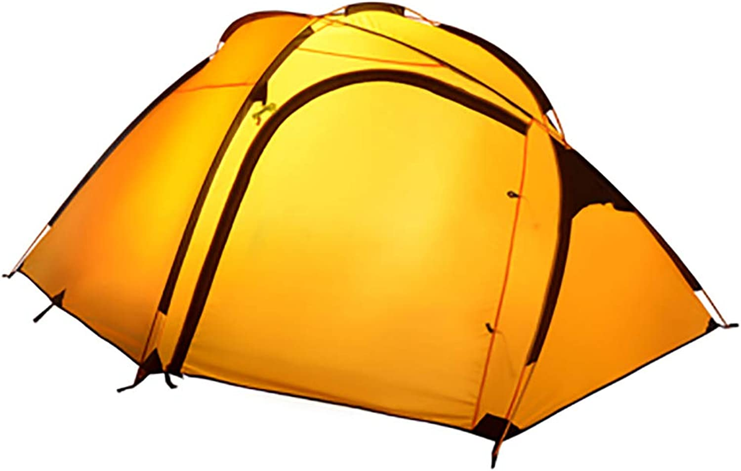Ultralight Four Seasons Tent, 4-5 People 1 Room 1 Hall Outdoor Tent, Camping Shelter Anti-Rainstorm Tent Aluminum Double Layer