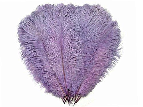 "Diamante Crafts Lilac Spadone Ostrich Feathers - Extra Large 50cm-60cm / 20""- 24"" Quantity 10-100 (10 x Lilac XL Ostrich Feathers)"