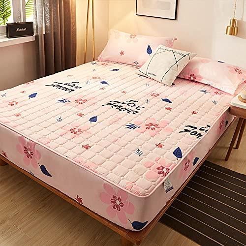 HPPSLT Protector de colchón/Cubre colchón Acolchado, antiácaros, Sábana más Gruesa de una Sola Pieza Transpirable-2_180 * 220cm