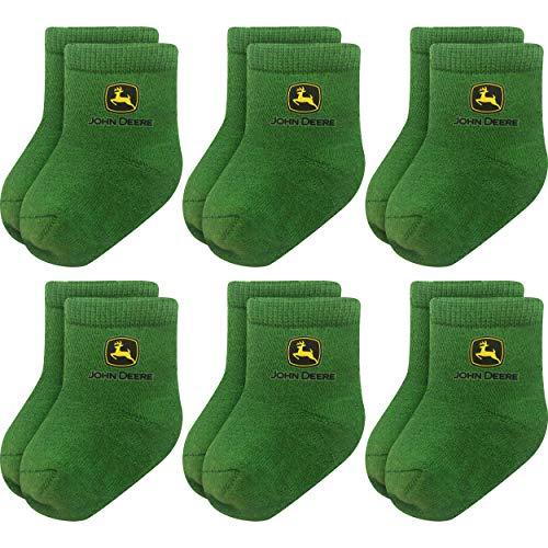 John Deere Baby-Jungen JD-514-12M-GRLGA Socken für Kleinkinder, grün, 6-12 Monate