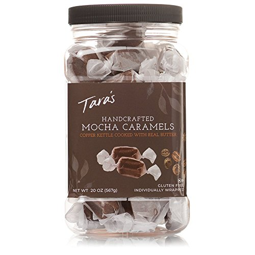 Taras All Natural Handcrafted Gourmet Mocha Caramel: Small Batch, Kettle Cooked, Creamy & Individually Wrapped - 20 Ounce