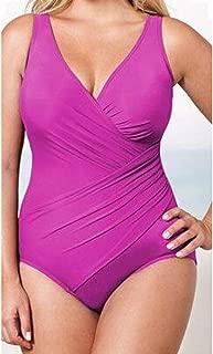 Qiyun Badeanzug Schwimmausrüstung Women Sexy Solid Color One-Piece Bikini