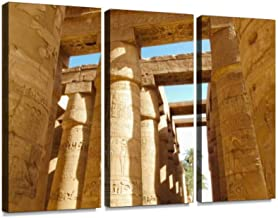 Great Hypostyle Hall at Karnak Temple in Egypt Modern 3D Wall Art Painting on Canvas Stretched Framed Prints Picture Photography Home Office Decoration Artwork 3 Pieces