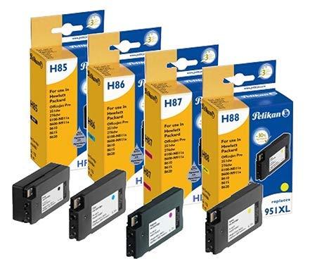 Pelikan Pack de 4 Cartuchos de Tinta reemplazo para HP 950XL/951XL Negro/Cian/Magenta/Amarillo